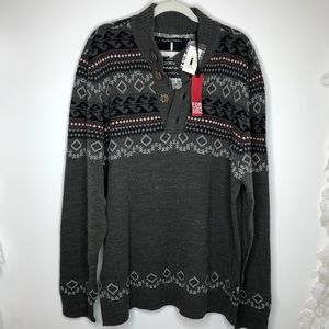 Buffalo gray long sleeve sweater